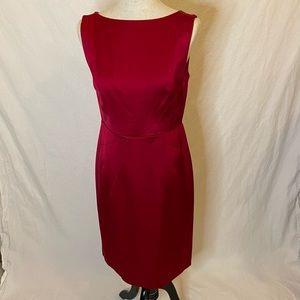 Banana Republic starburst satin sheath dress red 8